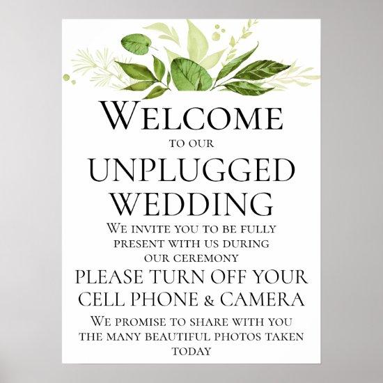 Wildwoods Botanicals Unplugged Wedding Ceremony Poster
