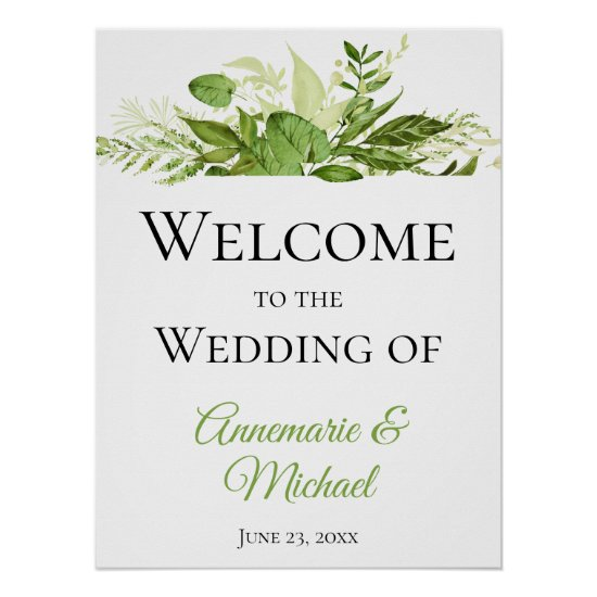 Wildwoods Botanicals Welcome to Our Wedding Poster