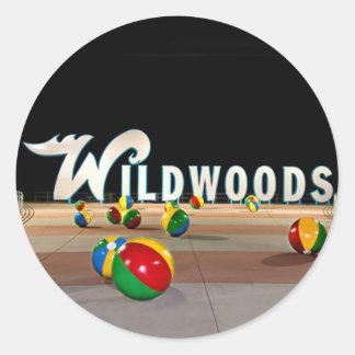 Wildwoods firma adentro Wildwood New Jersey Pegatinas