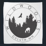 """Wildwoods Logo Bandanna<br><div class=""""desc"""">A multi-use bandanna with the Wildwoods logo on it</div>"""