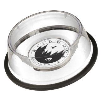Wildwoods Logo Clear Acrylic Pet Bowl