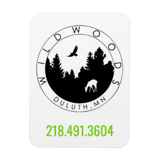 Wildwoods Logo Magnet with Phone Number