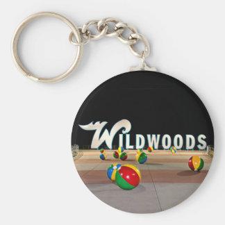 Wildwoods Sign in Wildwood New Jersey Keychain