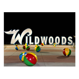 Wildwoods Sign in Wildwood New Jersey Postcard