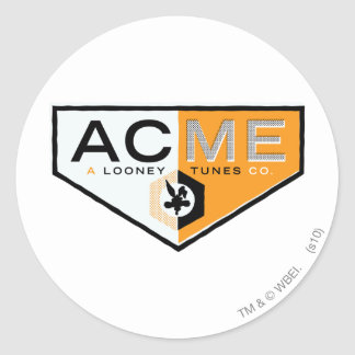 Wile E Coyote Acme 2 Classic Round Sticker
