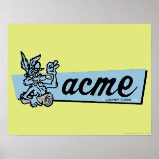 Wile E Coyote Acme 4 Poster