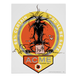 Wile E Coyote Acme - 68% Certain You'll Be Safe Poster