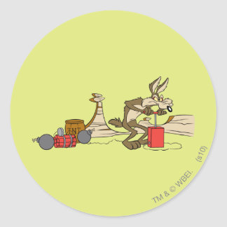 Wile E Coyote Acme Products 11 2 Classic Round Sticker