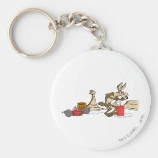 Wile E Coyote Acme Products 11 2 Basic Round Button Keychain