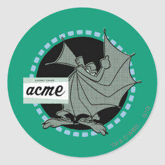 Wile E Coyote Acme Products 5 Classic Round Sticker
