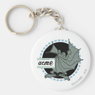 Wile E Coyote Acme Products 5 Basic Round Button Keychain