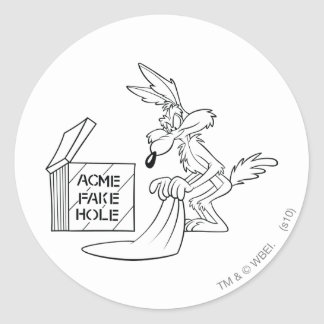 Wile E Coyote Acme Products 7 Classic Round Sticker