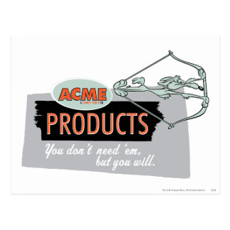 Wile E Coyote Acme Products 9 Postcard