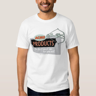 Wile E Coyote Acme Products 9 Tshirts
