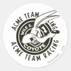 Wile E. Coyote Acme Team Racing B/W Classic Round Sticker