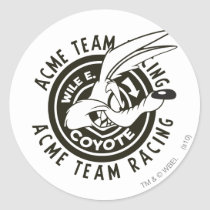 Wile E. Coyote Acme Team Racing B/W Classic Round Sticker
