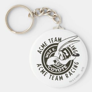 Wile E. Coyote Acme Team Racing B/W Keychain