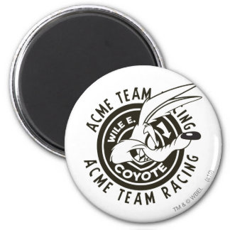 Wile E. Coyote Acme Team Racing B/W Magnet