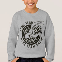 Wile E. Coyote Acme Team Racing B/W Sweatshirt
