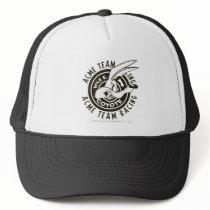 Wile E. Coyote Acme Team Racing B/W Trucker Hat