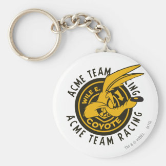 Wile E. Coyote Acme Team Racing Basic Round Button Keychain