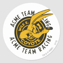 Wile E. Coyote Acme Team Racing Classic Round Sticker