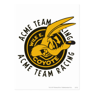 Wile E. Coyote Acme Team Racing Postcard