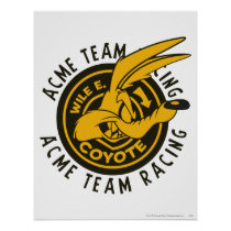 Wile E. Coyote Acme Team Racing Poster