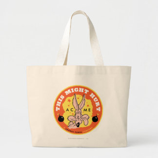 Wile E Coyote Acme - This Might Hurt Large Tote Bag