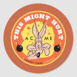 Wile E Coyote Acme - This Might Hurt Round Stickers