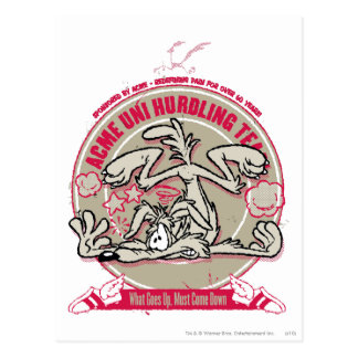 Wile E. Coyote ACME Uni Hurdling Team Postcard