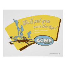 Wile E Coyote and ROAD RUNNER™ Acme Poster