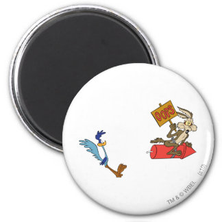 Wile E Coyote and ROAD RUNNER™ Acme Products 5 2 Magnet