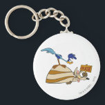 """Wile E Coyote and ROAD RUNNER™ Acme Products 5 Keychain<br><div class=""""desc"""">Design part of a series from the Acme Collection</div>"""