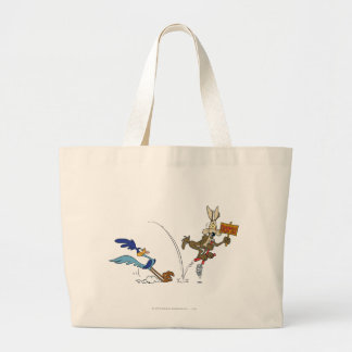 Wile E Coyote and ROAD RUNNER™ Acme Products 7 Large Tote Bag