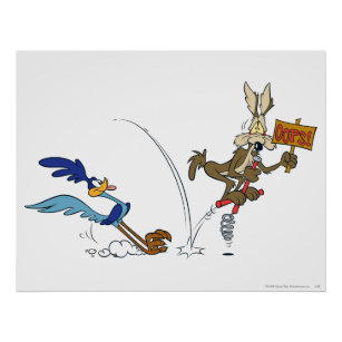 Wile E Coyote Road Runner Villain Giant Wall Art Poster Print