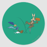 Wile E Coyote and ROAD RUNNER™ Acme Products 7 Round Sticker