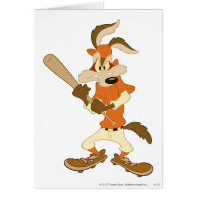 Wile E Coyote Batter's Up Greeting Card