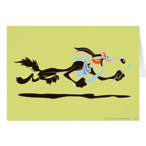 Wile E. Coyote Chasing dinner Card