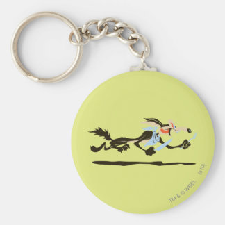 Wile E. Coyote Chasing dinner Basic Round Button Keychain