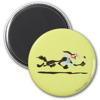 Wile E. Coyote Chasing dinner Magnet