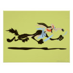 Wile E. Coyote Chasing dinner Poster