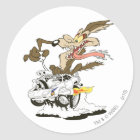 Wile E. Coyote Crazy Glance Classic Round Sticker