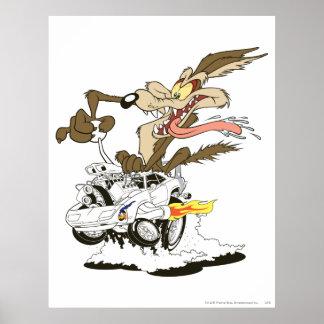 Wile E. Coyote Crazy Glance Poster