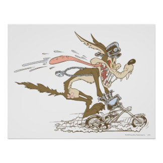 Wile E. Coyote Cycle Racer Poster