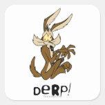 Wile E. Coyote Derp Square Stickers