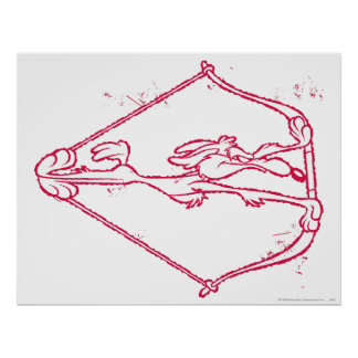 Wile E. Coyote Distressed Archery Poster