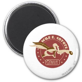 Wile E. Coyote Genius Imán Redondo 5 Cm