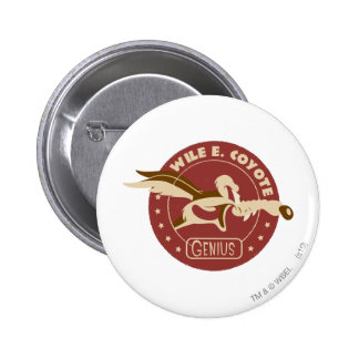 Wile E. Coyote Genius Pin Redondo 5 Cm