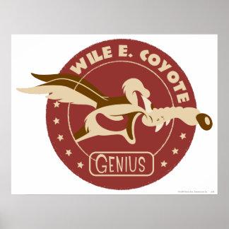 Wile E. Coyote Genius Poster